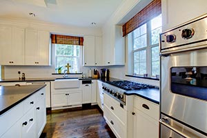 black granite white cabinets Granite kitchen - Columbus Ohio GS Marble Ohio